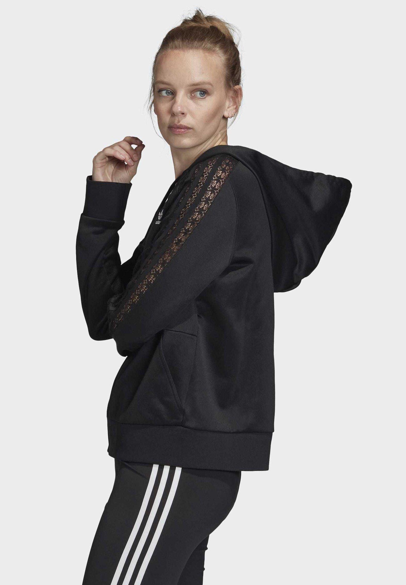 adidas Originals LACE HOODIE Sweatjacke black Zalando.at