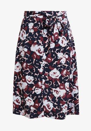 YASTORI MIDI SKIRT - A-line skirt - navy blazer