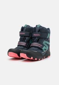 Kappa - TEX UNISEX - Winter boots - navy/pink - 1