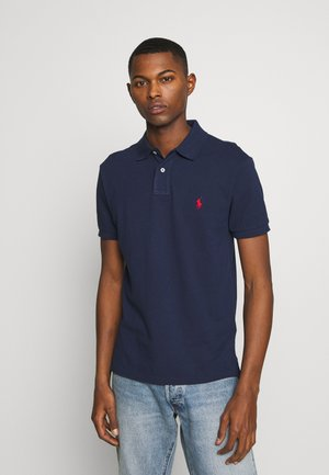 SHORT SLEEVE KNIT - Pikeepaita - newport navy