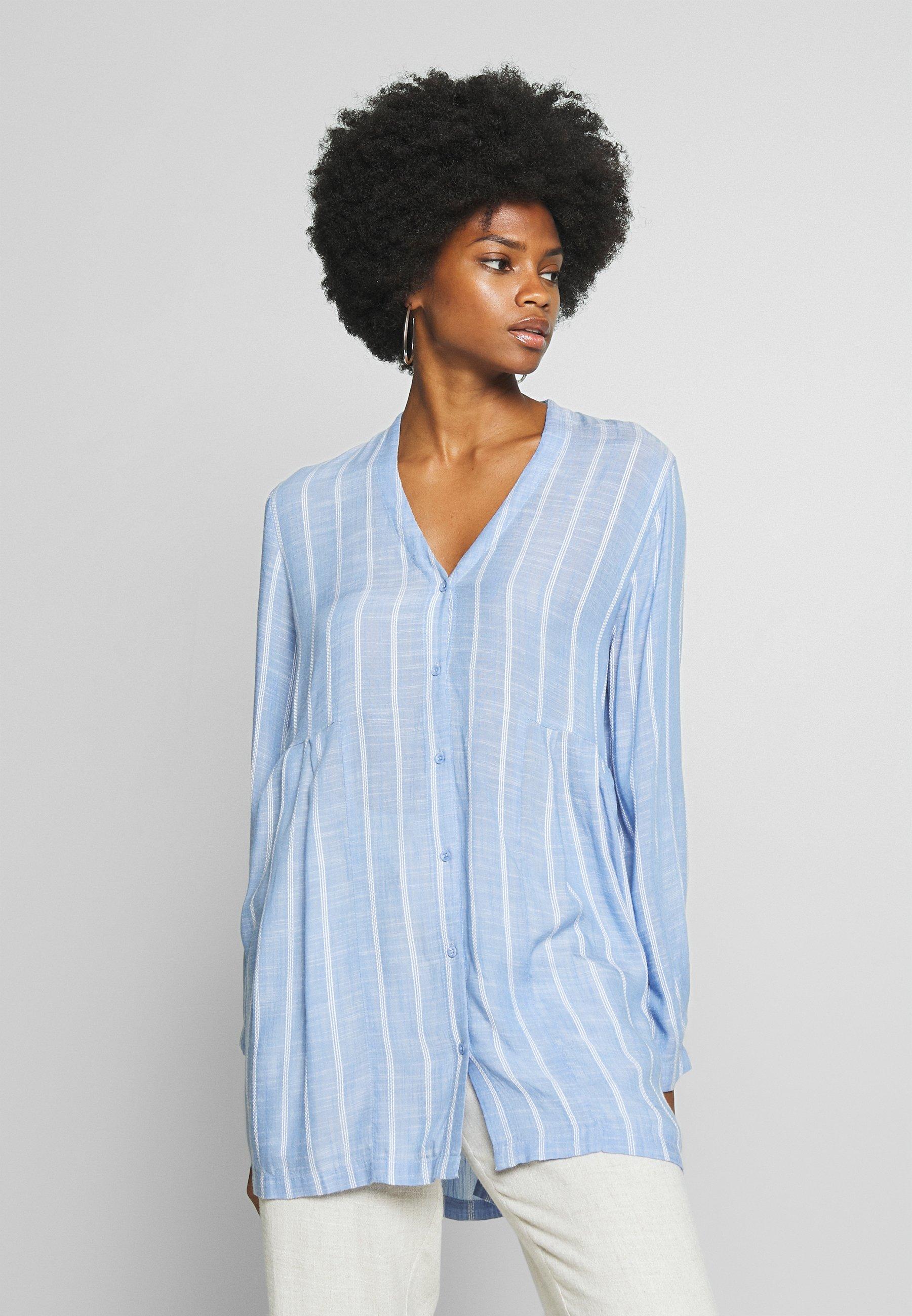 Masai Ibene Blouse Langermet Skjorte Blå MASAI