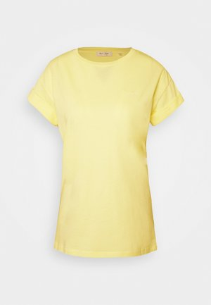 BOYFRIEND COLOURED - Basic T-shirt - light lemon