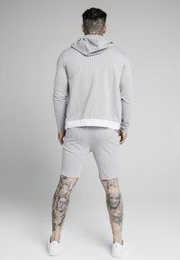 SIKSILK - DUAL STRIPE - Shorts - grey/white - 2