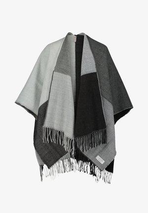 Poncho - grau/weiß