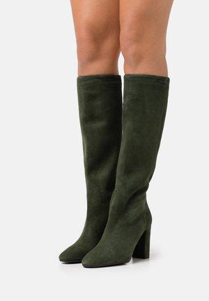 Boots med høye hæler - verde
