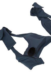 OYSHO - NECKHOLDER-BIKINIOBERTEIL MIT SCHLEIFEN 30704333 - Bikini top - dark blue - 7