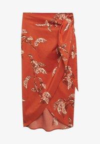 Mango - Wrap skirt - rojo - 5