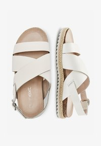 Next - TAN LEATHER ROPE WRAP SANDALS (OLDER) - Sandals - white - 1