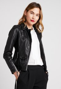 Freaky Nation - BLIND TRUST - Leather jacket - black - 0