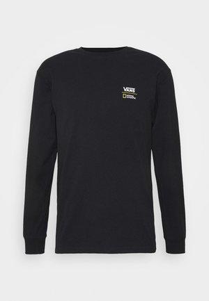VANS X NATIONAL GEOGRAPHIC GLOBE  - Bluzka z długim rękawem - black