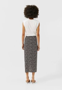 Stradivarius - Pencil skirt - brown - 2