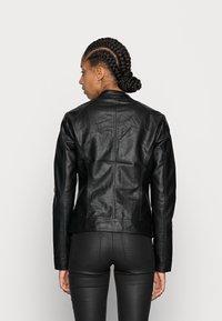 ONLY - ONLBANDIT BIKER - Faux leather jacket - black - 2