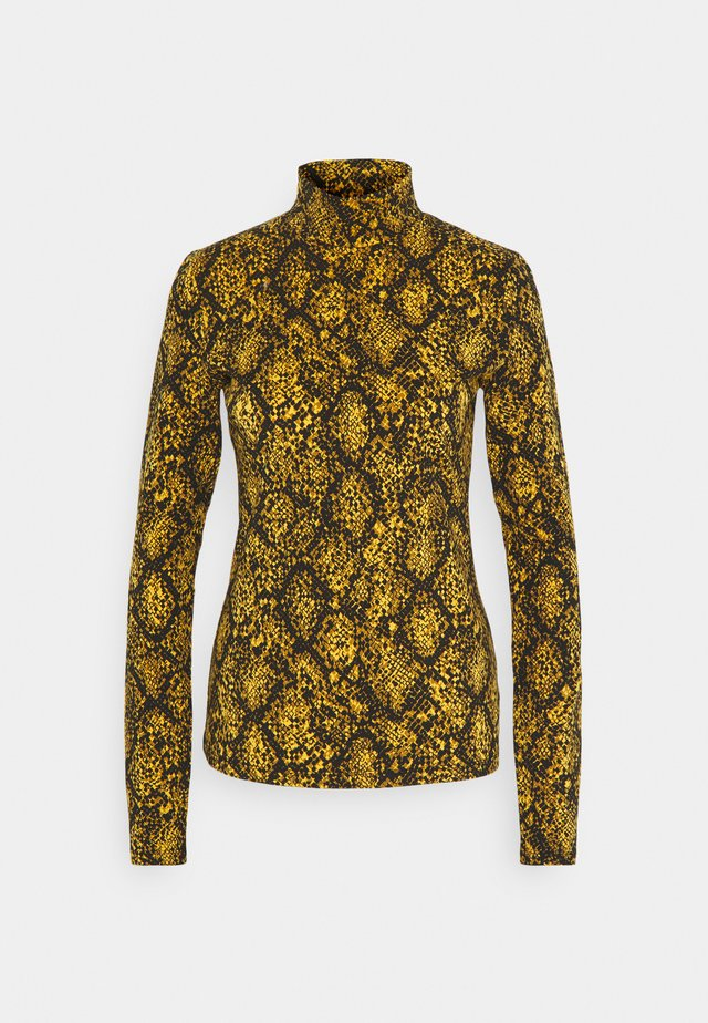 LONG SLEEVE TURTLENECK - Long sleeved top - gold/black