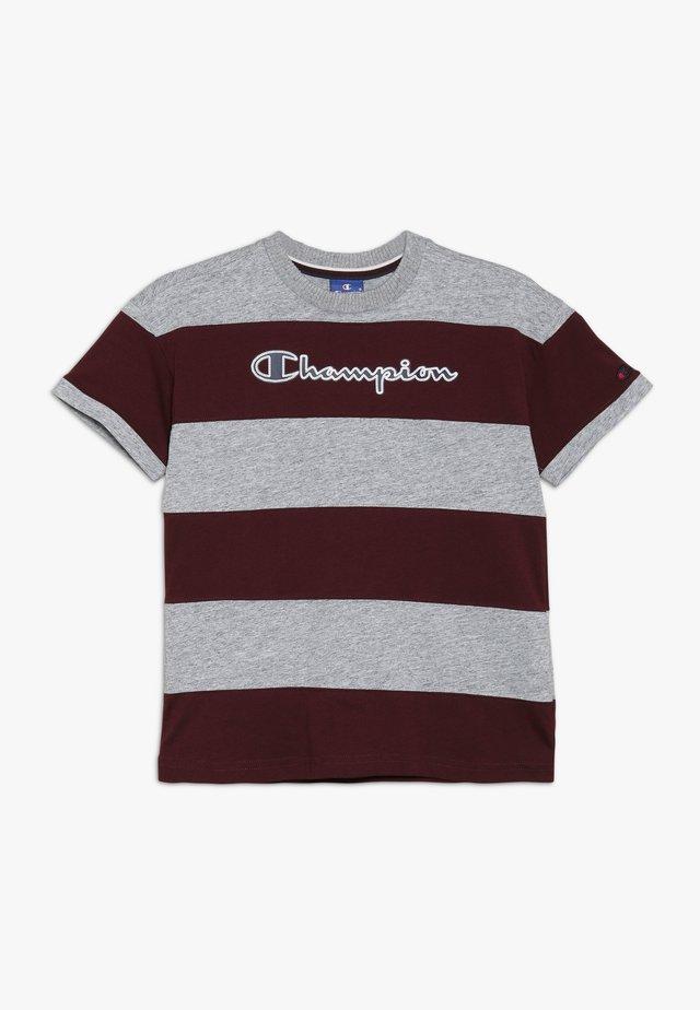 ROCHESTER VARSITY CREWNECK - Print T-shirt - mottled grey/dark red