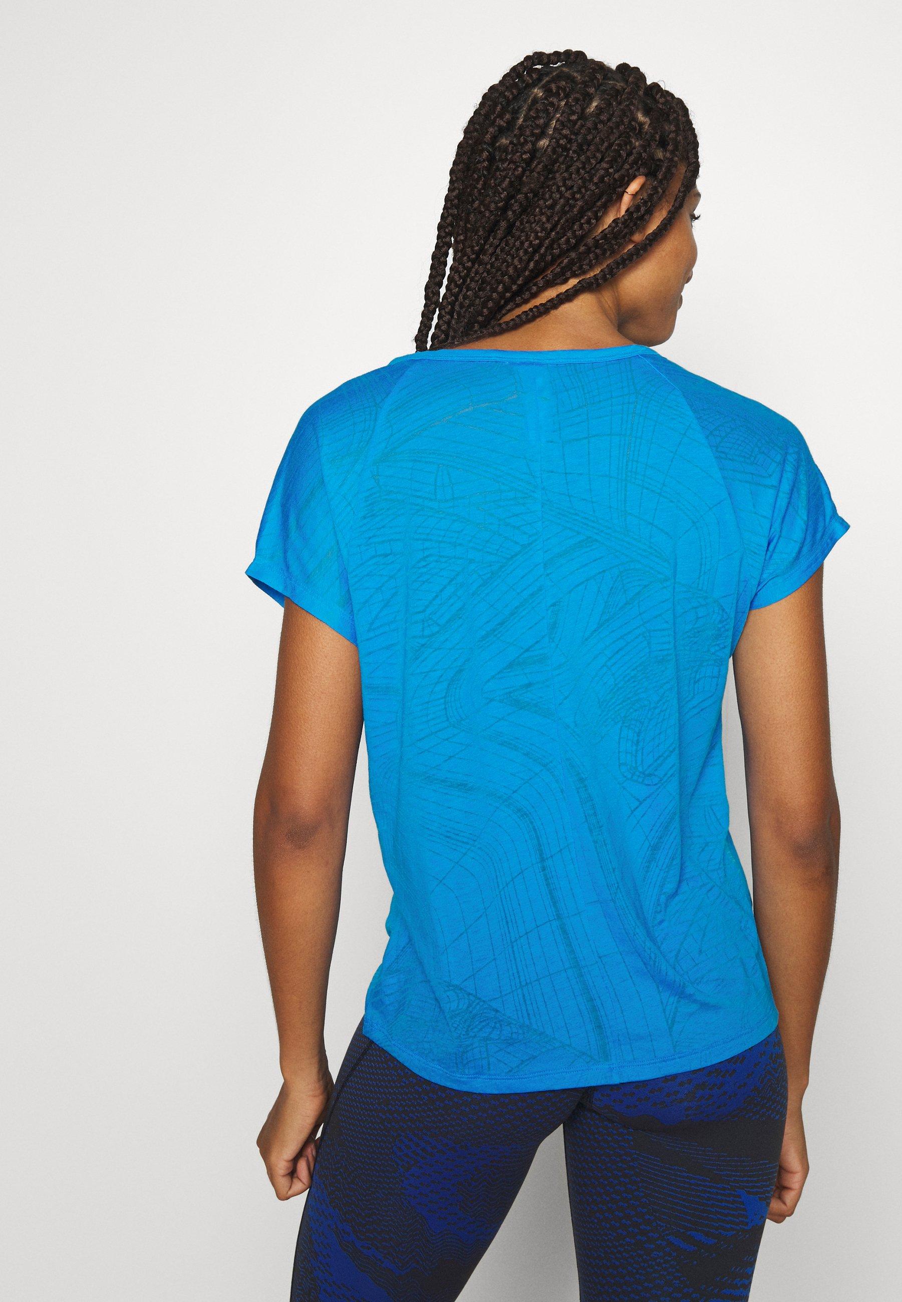 Reebok BURNOUT TEE - Print T-shirt - blue lNtJE