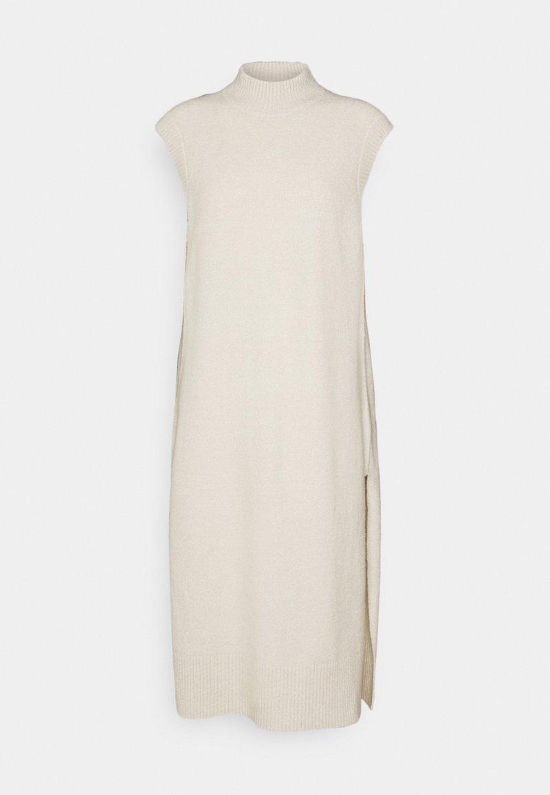 ONLY - ONLJANINE WAISTCOAT DRESS - Abito in maglia - pumice stone