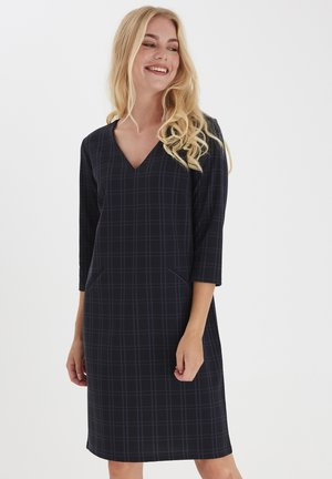 FRMECHECK - Jersey dress - navy blazer mix