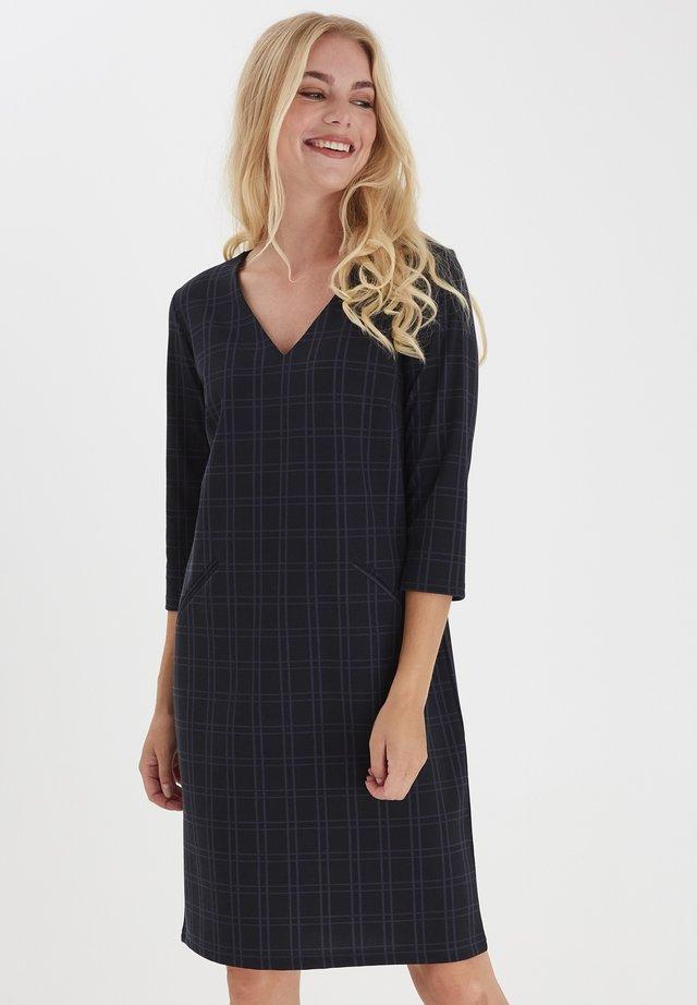 FRMECHECK - Jersey dress - navy blazer mix