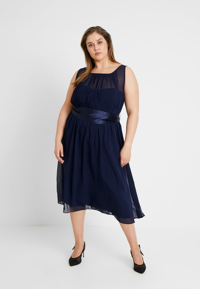 Dorothy Perkins Curve - BETHANY DRESS - Cocktail dress / Party dress - navy