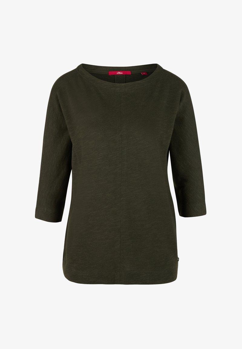 s.Oliver Langarmshirt - dark green/khaki Afhxa4