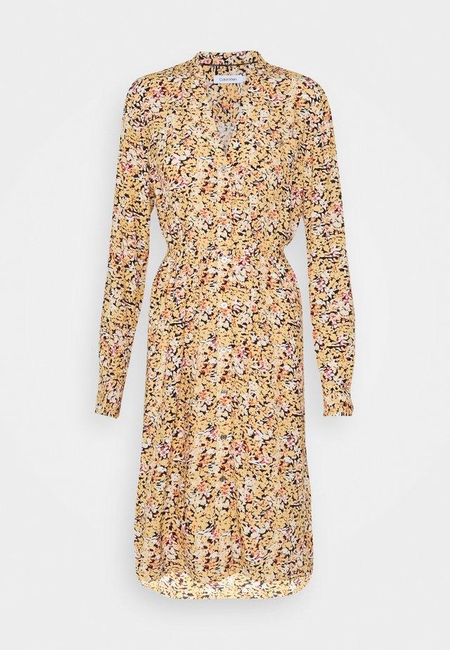 V NECK DRESS - Day dress - yellow