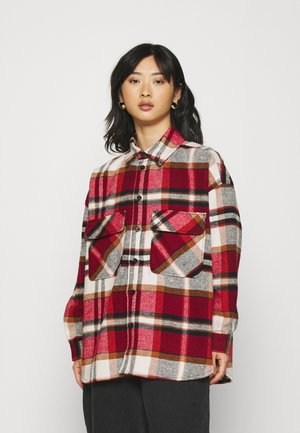 MONA SHIRT - Button-down blouse - red