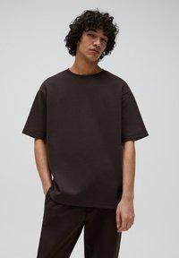 PULL&BEAR - T-shirt - bas - mottled brown - 0