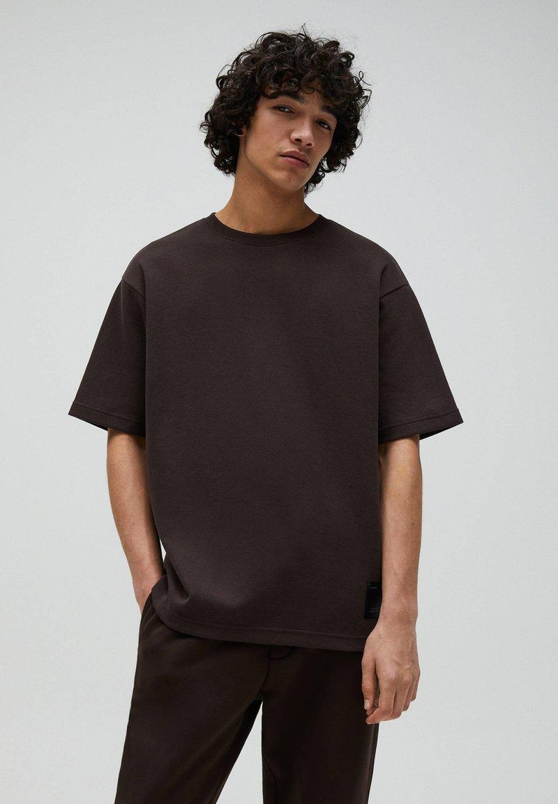 PULL&BEAR - T-shirt - bas - mottled brown