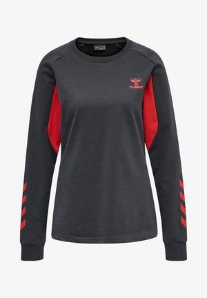 Sweatshirt - ebony/flame scarlet