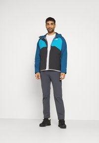 The North Face - MENS STRATOS JACKET - Hardshell jacket - anthracite/teal/blue