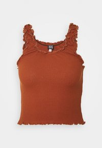 BDG Urban Outfitters - LETTUCE EDGE TANK - Topper - brown - 0