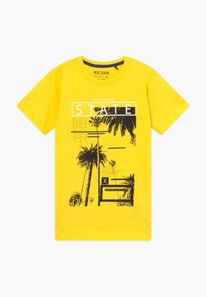 RUNDHALS - T-shirt print - gelb
