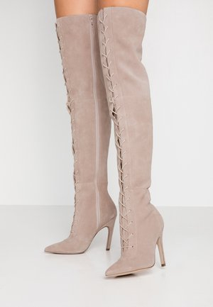 Over-the-knee boots - nude