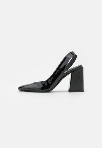 BLOCK SLING BACK - Classic heels - nero