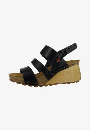 BORNE  - Wedge sandals - black