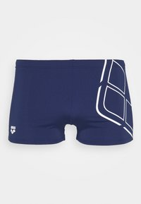 Arena - ESSENTIALS - Swimming trunks - navy/white - 2