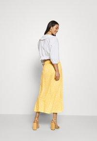 Monki - LANE SKIRT - Maxi sukně - yellow - 2