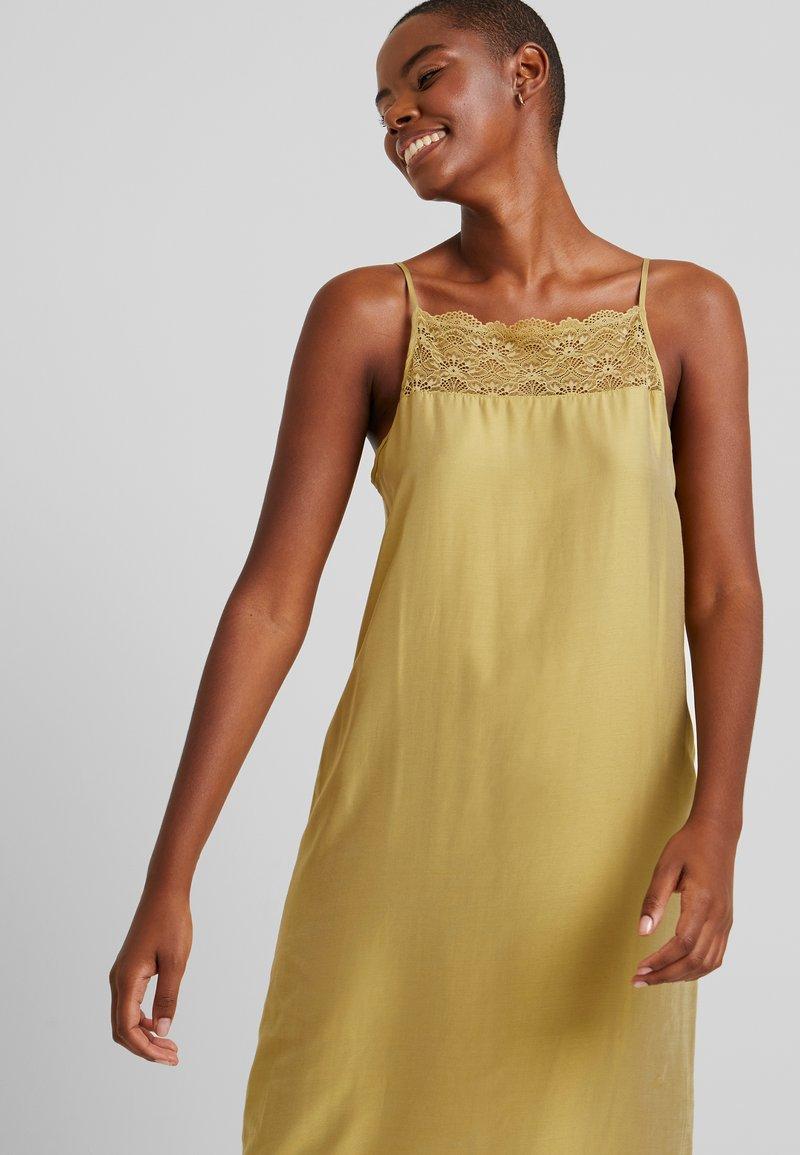 hanro aria spaghettidress - nachthemd - winter lemon/gelb