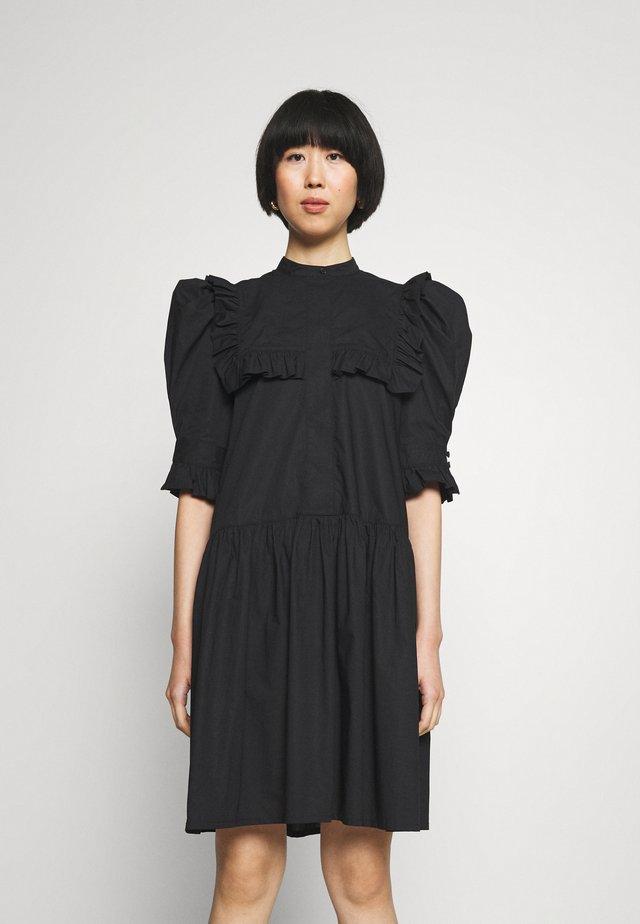 FLOIA - Košilové šaty - black