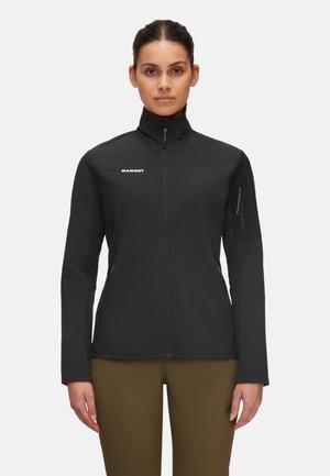 MADRIS - Fleece jacket - black white