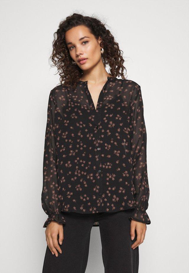 ERICA PRINT - Overhemdblouse - black