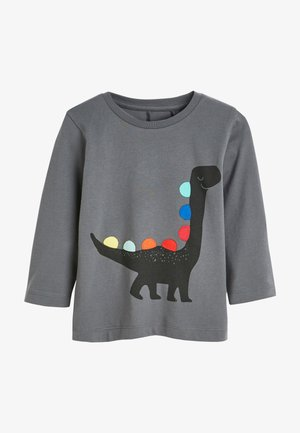 RAINBOW SPIKES DINO - Long sleeved top - grey
