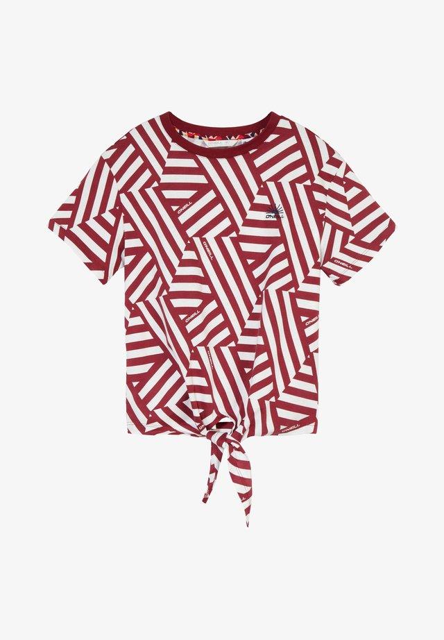 MIT KNOTEN - Print T-shirt - cabernet