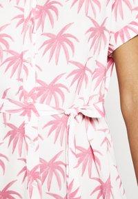 Fabienne Chapot - BOYFRIEND CARA DRESS - Shirt dress - white/pink - 4