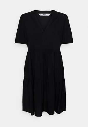 ONLNOVA LIFE THEA DRESS SOLID - Sukienka letnia - black