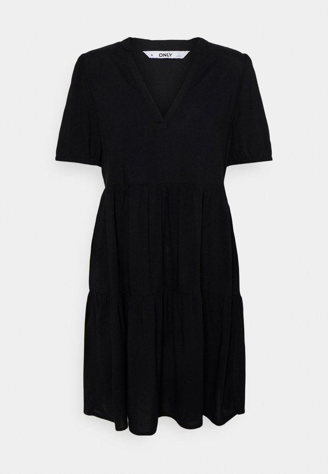 ONLNOVA LIFE THEA DRESS SOLID - Korte jurk - black