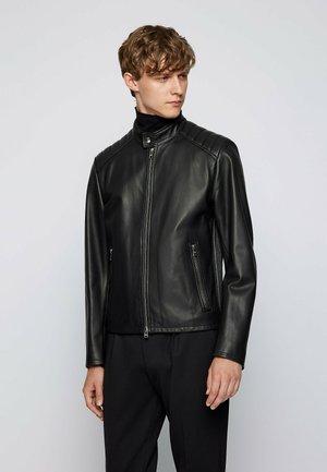 GELAN - Leather jacket - black
