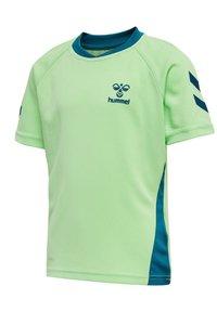 Hummel - ACTION  - Print T-shirt - green ash/blue coral - 1