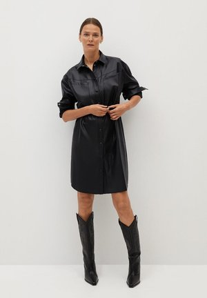 BROWN - Shirt dress - black