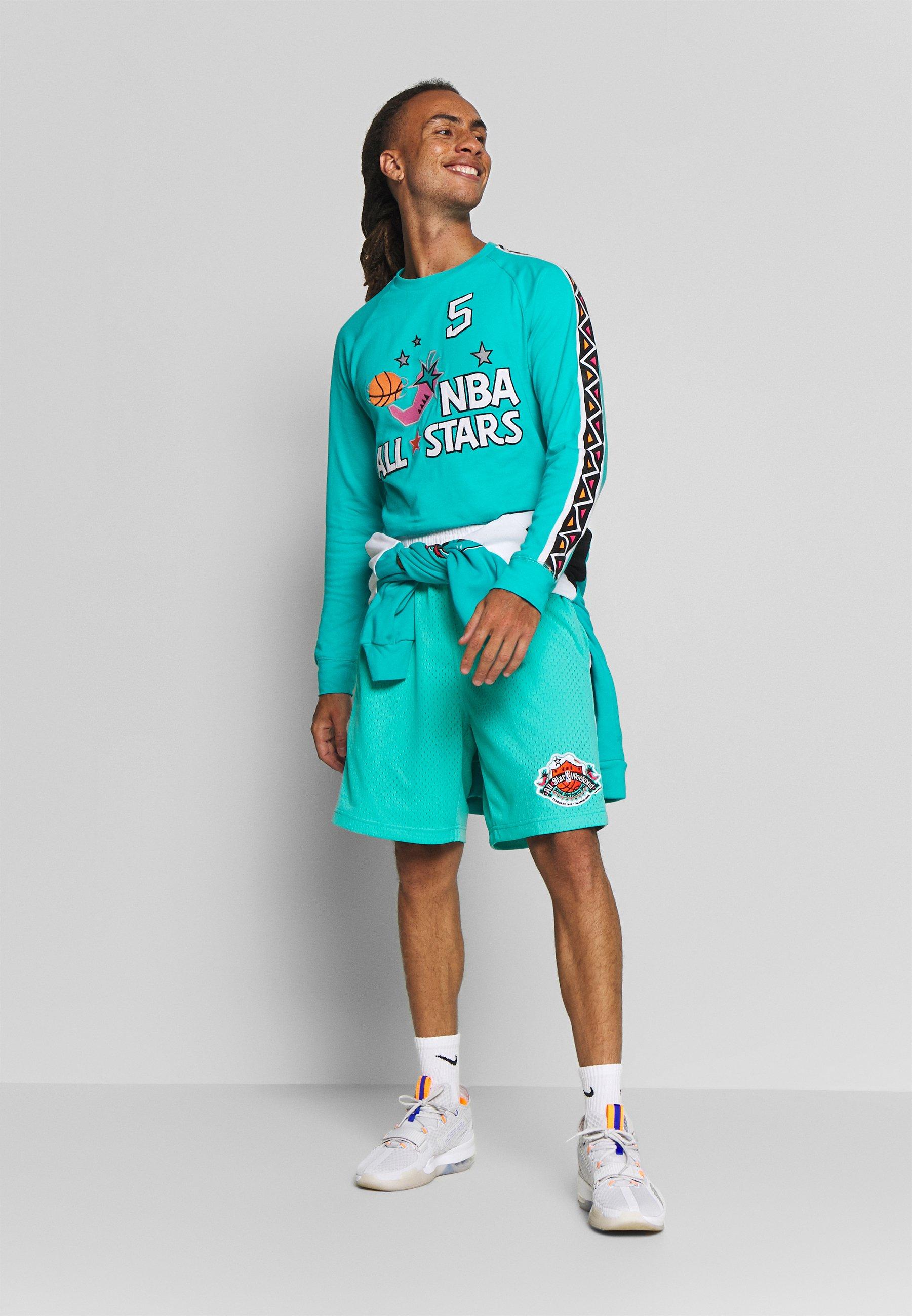 Mitchell & Ness NBA ALL STAR WEST NAME NUMBER LONGSLEEVE JASON KIDD - Article de supporter - teal